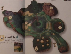 The map of Spiral mountain in the magazine