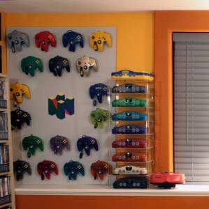You can see the N64 game collection on the far left.