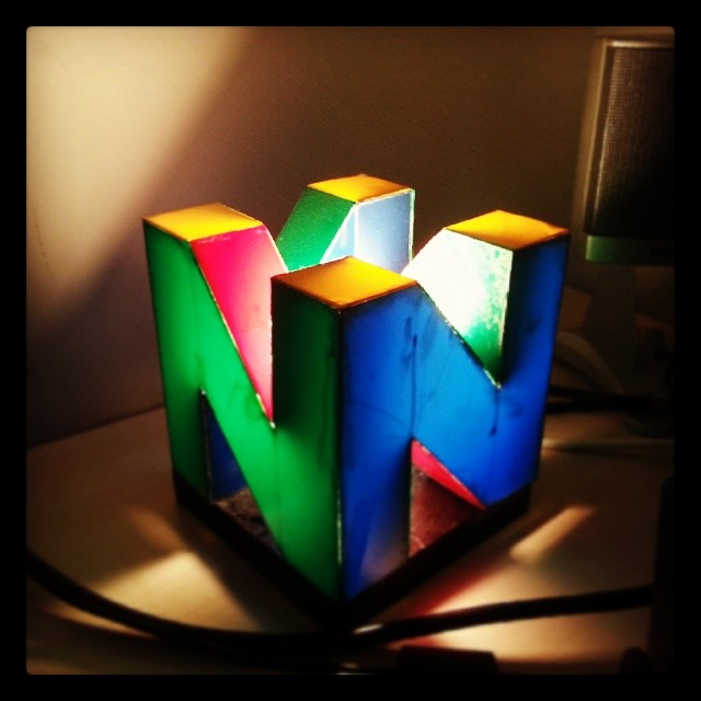 Custom made Nintendo 64 lamp and table | N64 Squid