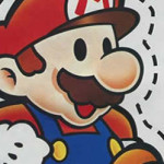 Nintendo 64 ad: Paper Mario cutout