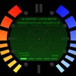 Goldeneye pause menu on an Android Watch