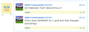 Commenting on the Italy / Germany semifinal.
