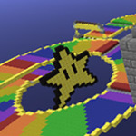 Mario Kart's Rainbow Road in Minecraft