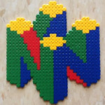 Deviantart.com: N64 Logo in Perlers by Night-TAG