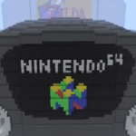 The Nintendo 64 console in Minecraft