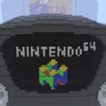 The Nintendo 64 console in Minecraft