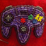 Deviantart.com: Beaded N64 controller by Particularlyme