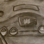 Video Game Still Life Charcoal Art by ZeldaMasterFan