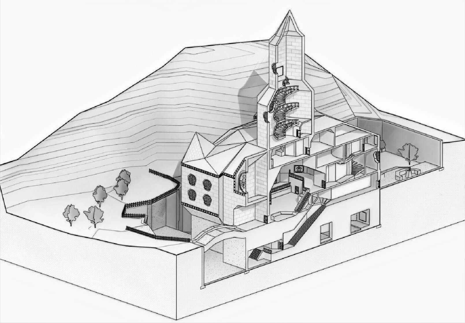 An accurate to scale drawing of Peach's castle, by Slaughtahouse.