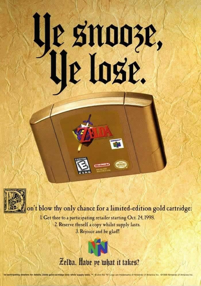 Nintendo 64 ad: Ye snooze, ye lose - N64 Squid