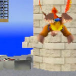 Banjo Kazooie in Super Mario 64: Whomp's Fortress